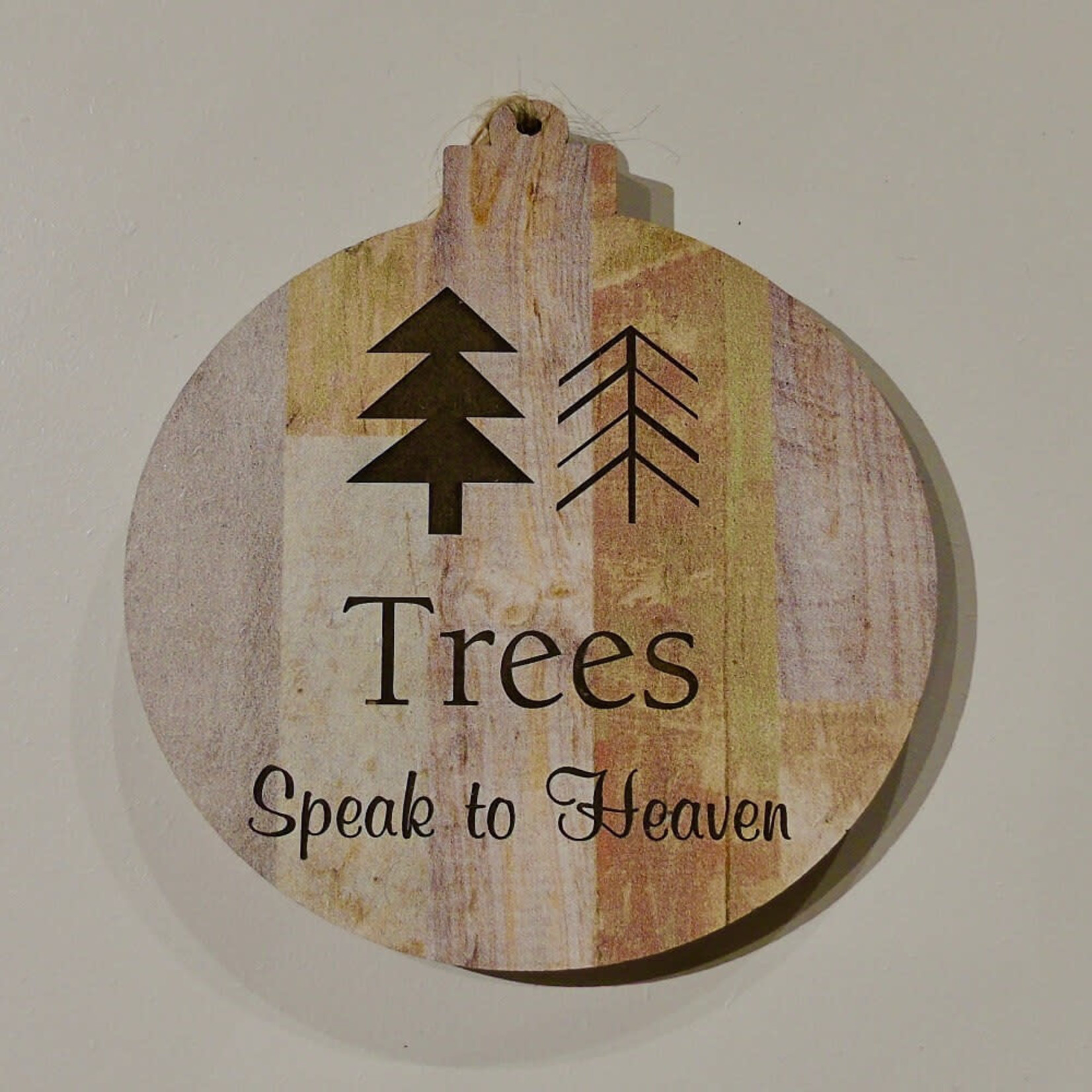 Faux Wood Ornament