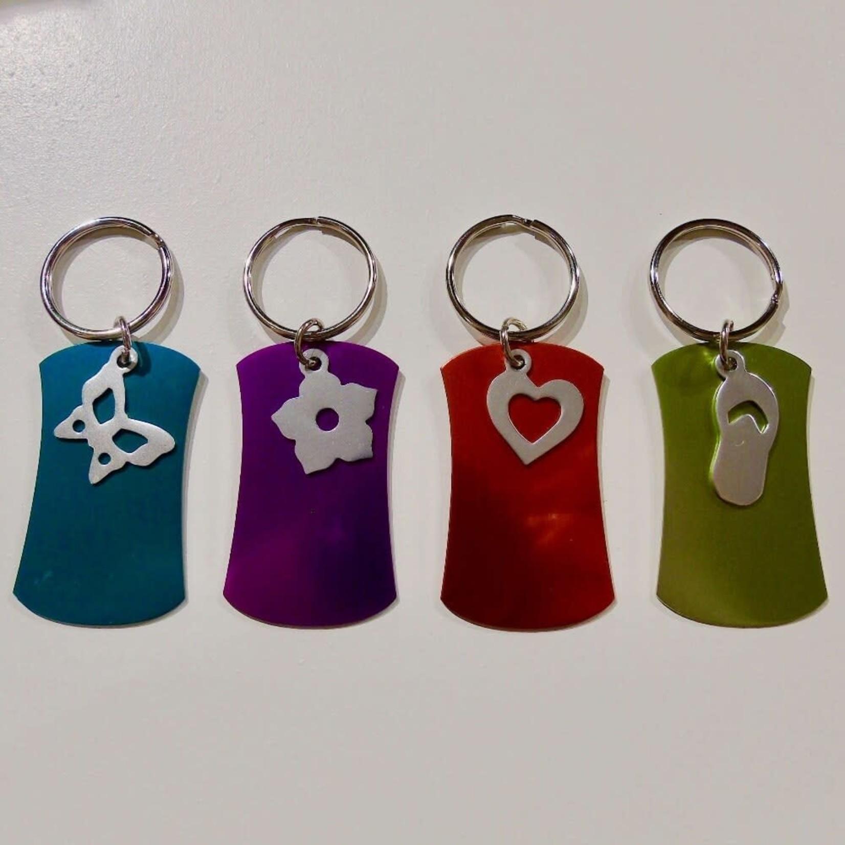 **Assorted Keychain w/Charm