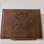 Faux Leather Accessory Box 6.75x5""