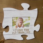 "Puzzle Plaque - White Wood (4x6"" Photo)"