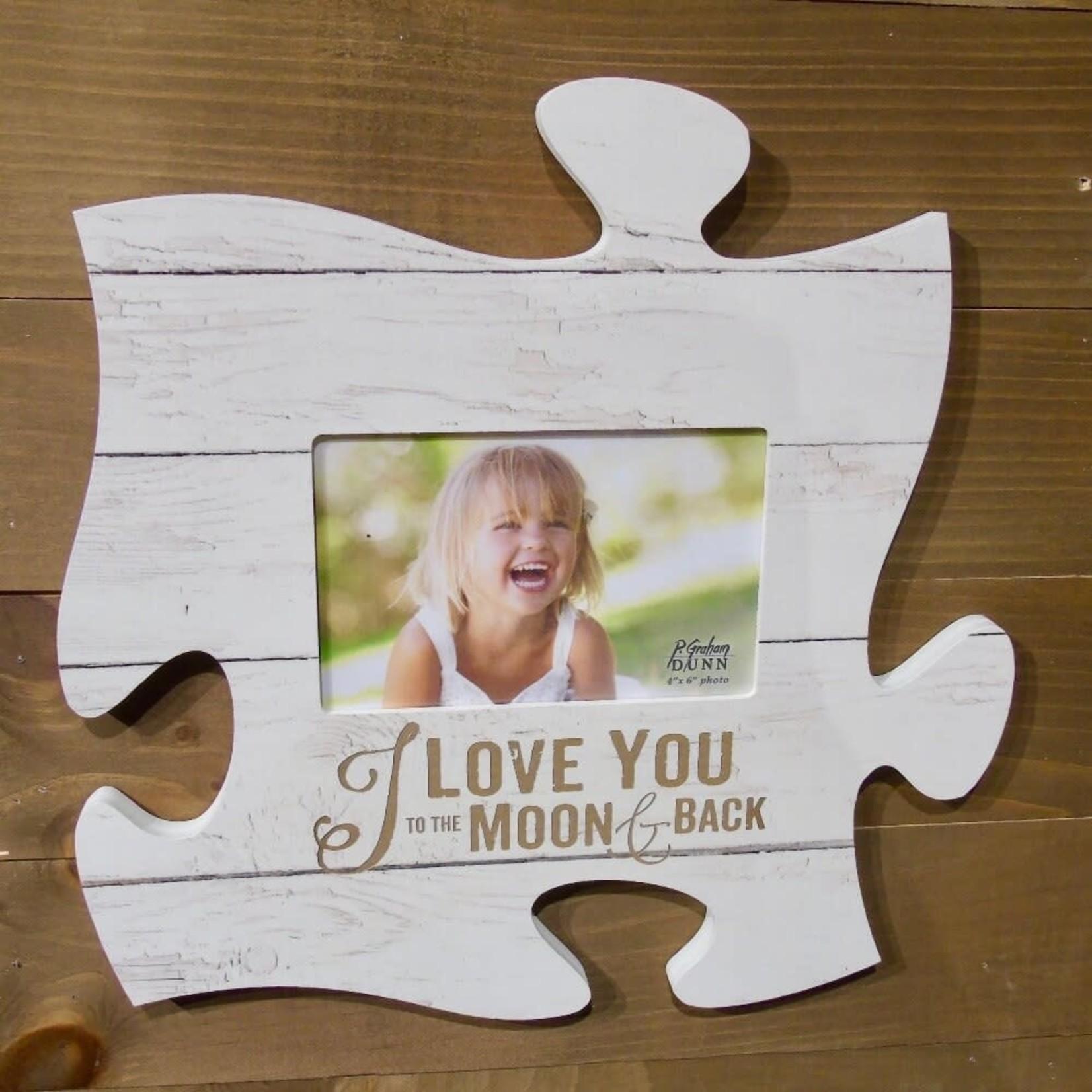 """Puzzle Plaque - White Wood (4x6"""" Photo)"""