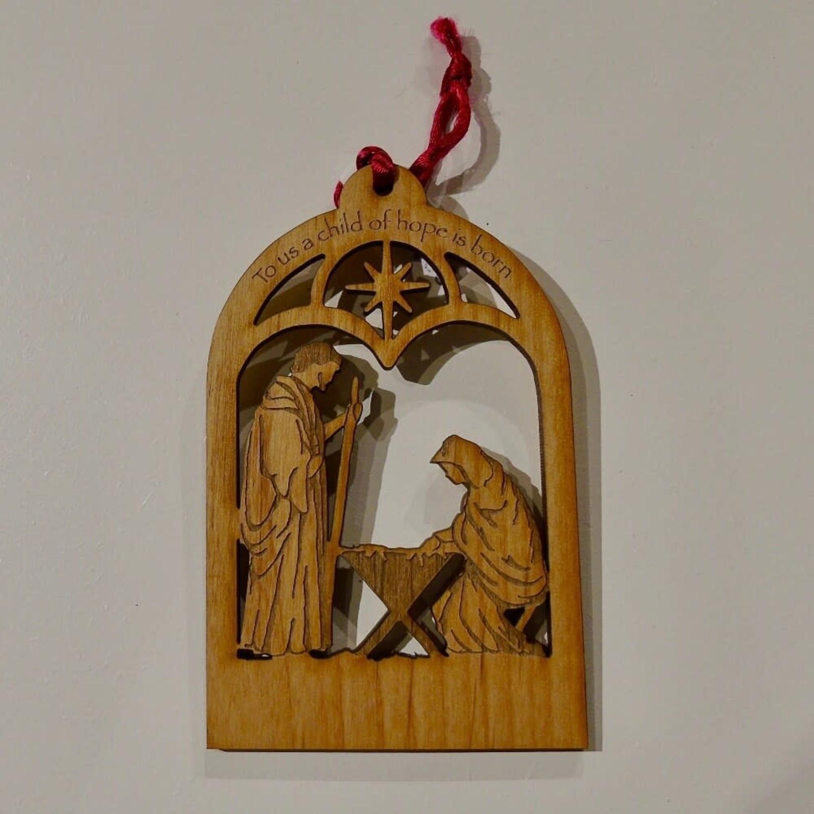Engravable Nativity Ornament