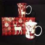 Holiday Reindeer Mugs (Set of 2)