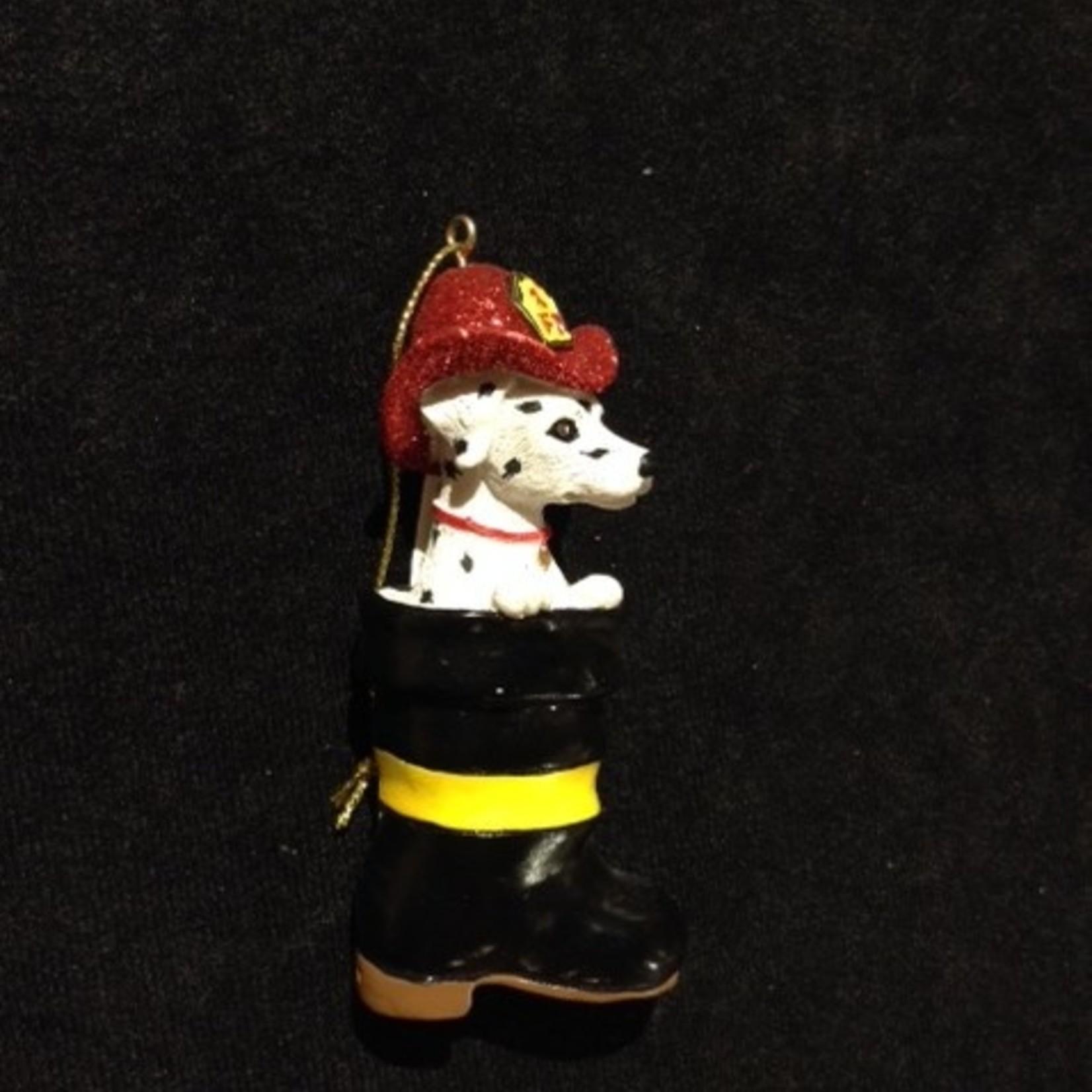 Fireman Dalmation Ornament 2A