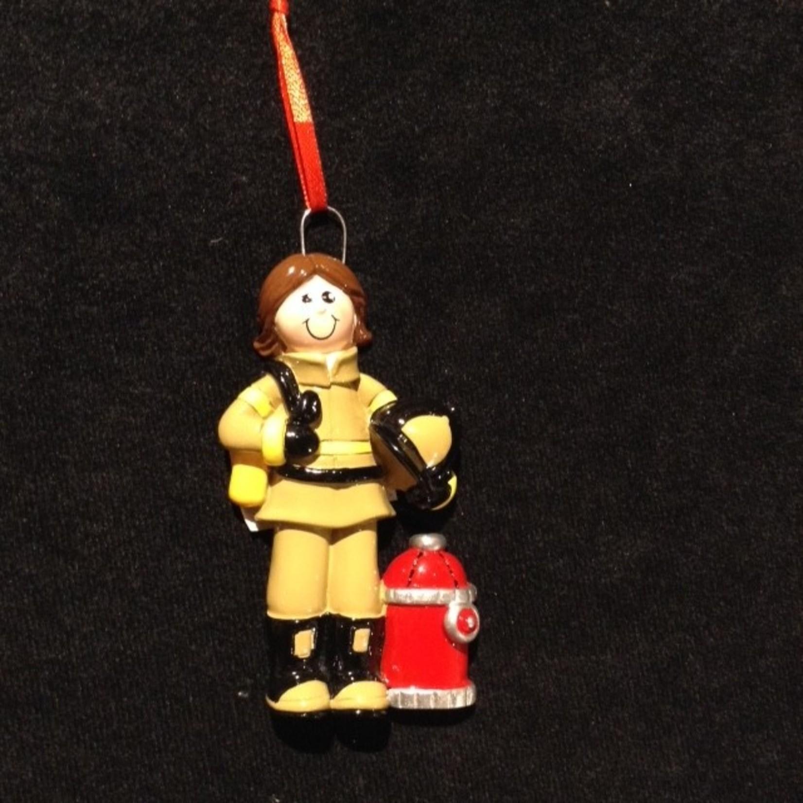 **Firefighter Girl Orn