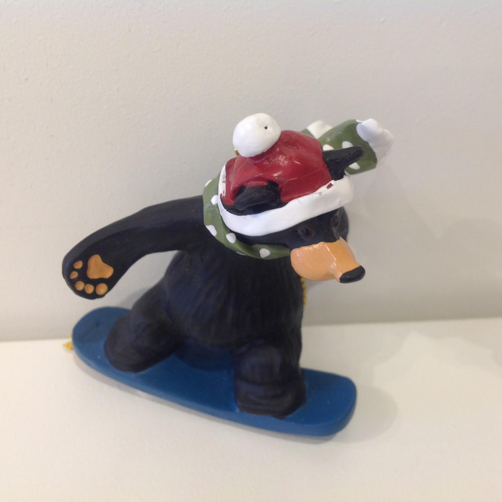 **Bear Snowboarder Ornament