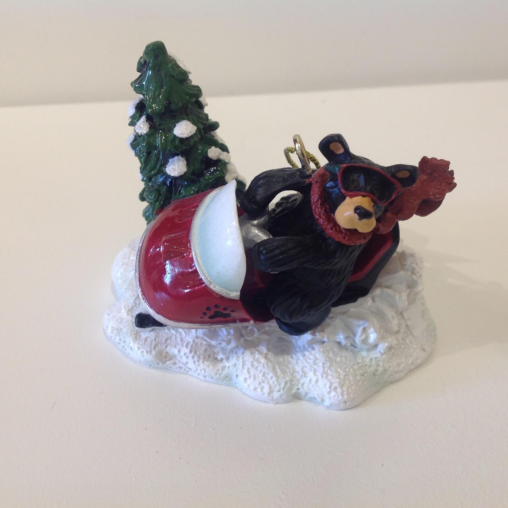 Bear Snowmobiler Ornament