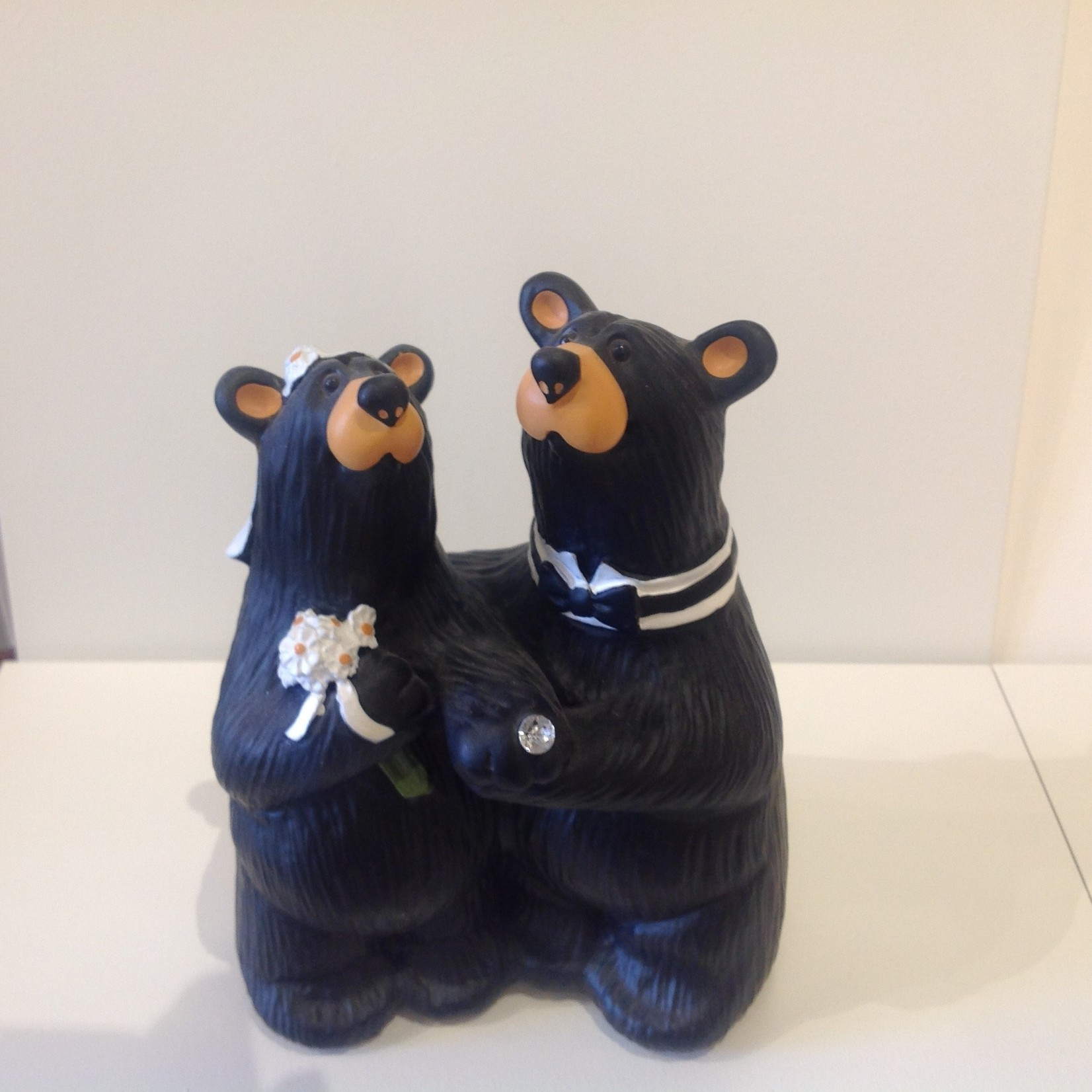 "5.25"" Bear Wedding Couple Figurine"