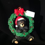**Black Bear Wreath Orn