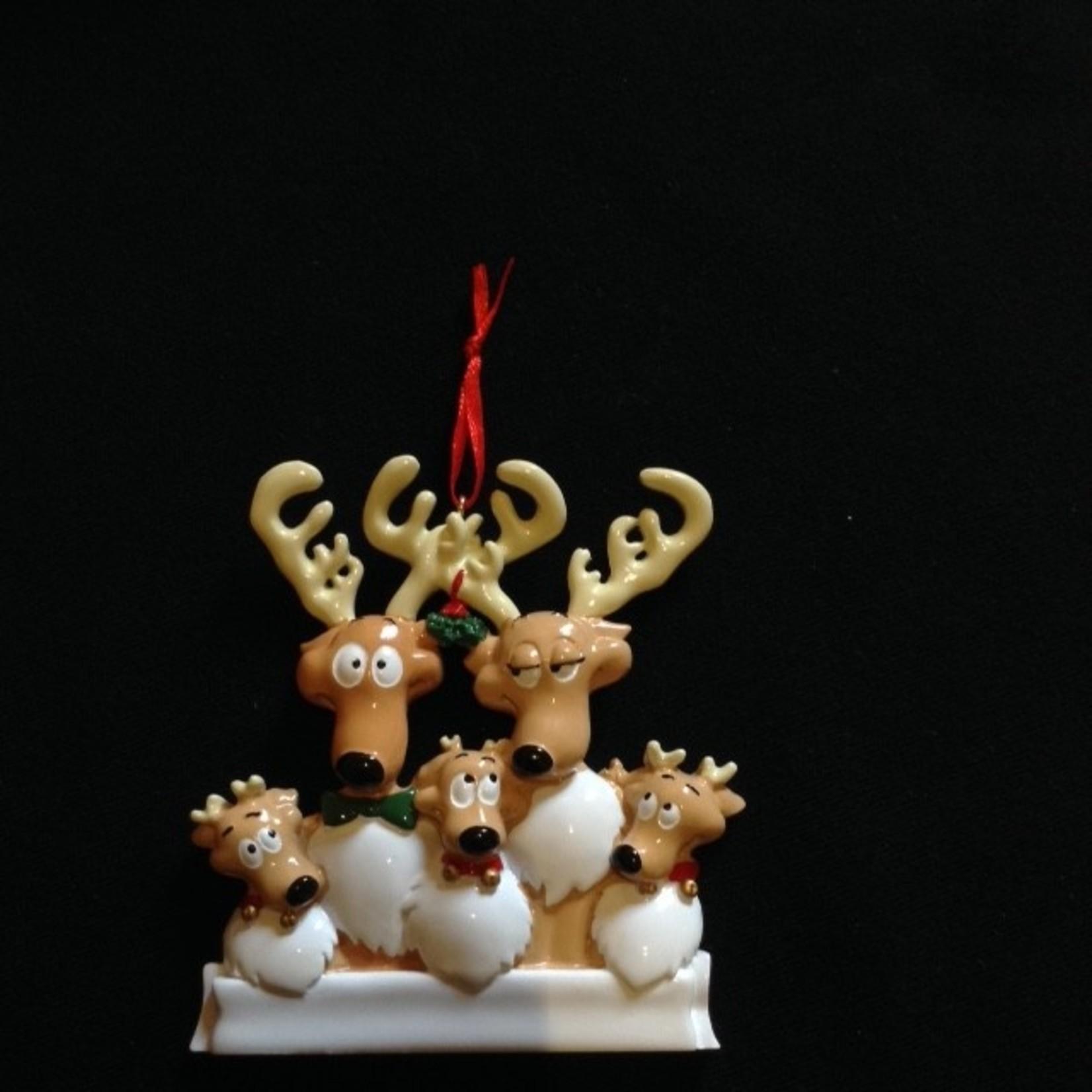 **Reindeer Family Orn - 5