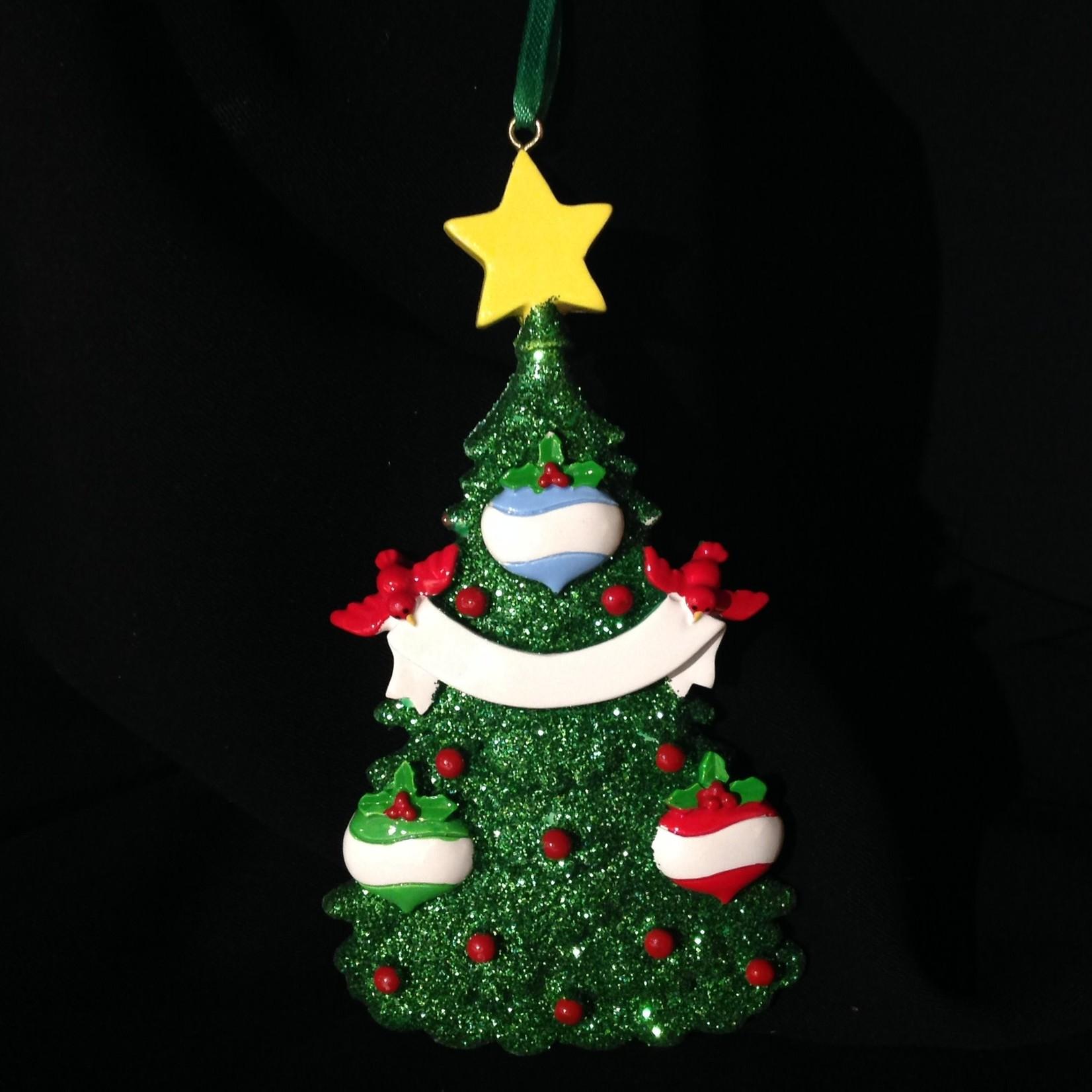 Green Tree - 3 Ornament