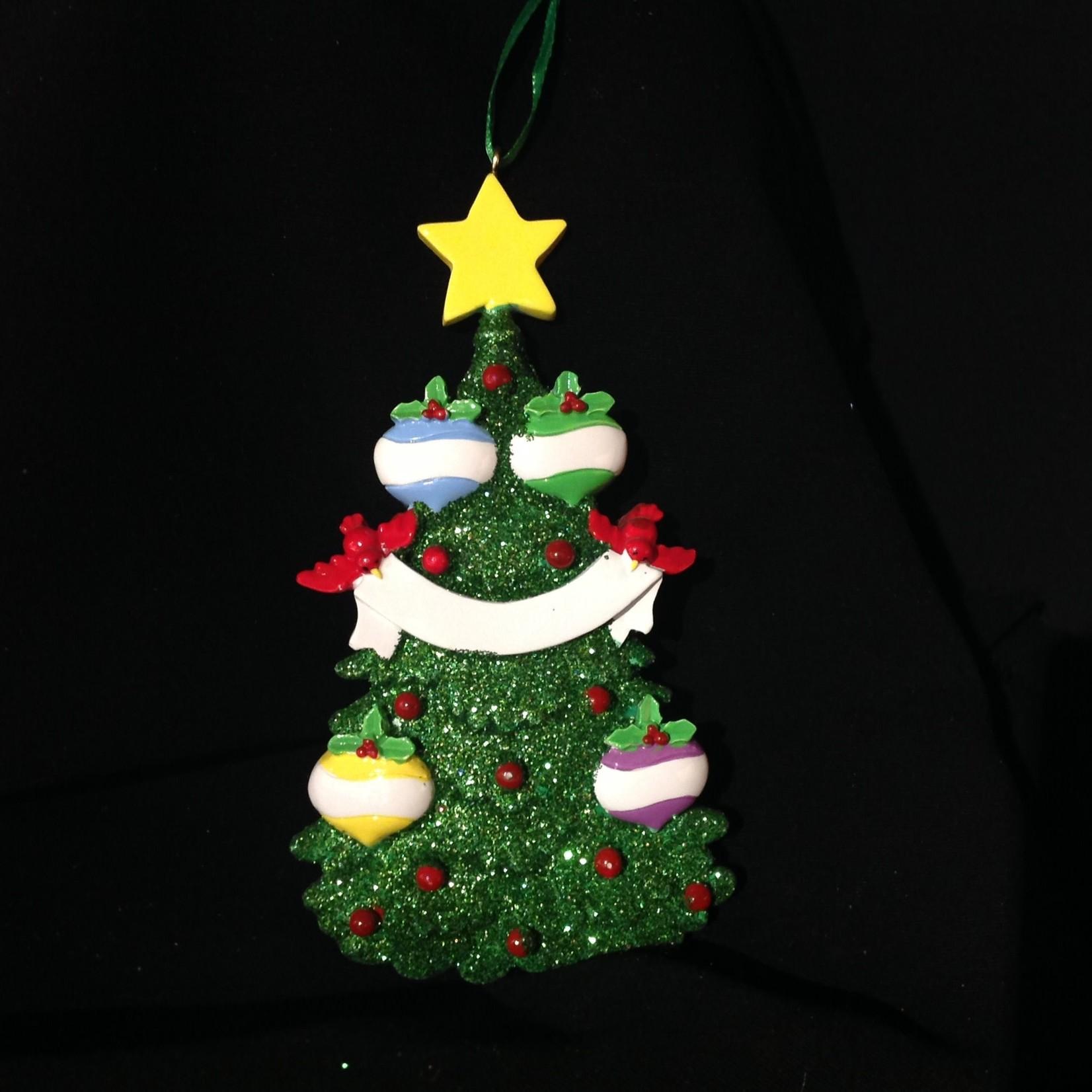 Green Tree - 4 Ornament