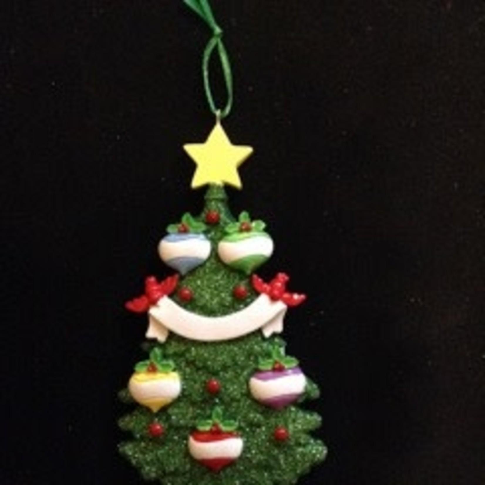 Green Tree - 5 Ornament