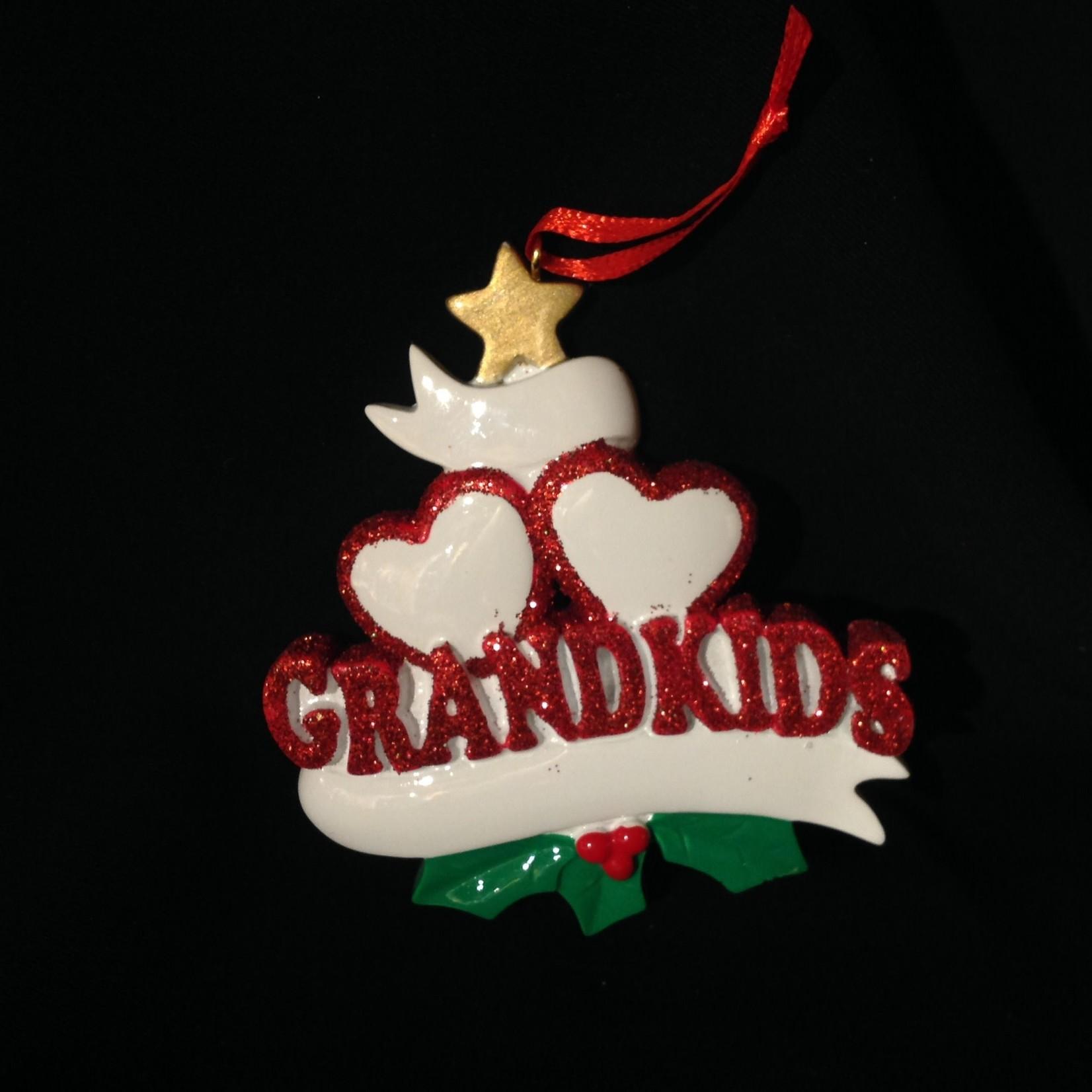 Grandkid Hearts Orn - 2