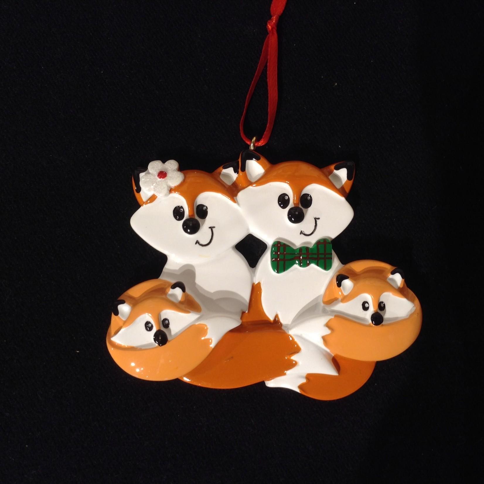 Fox Family Orn - 4