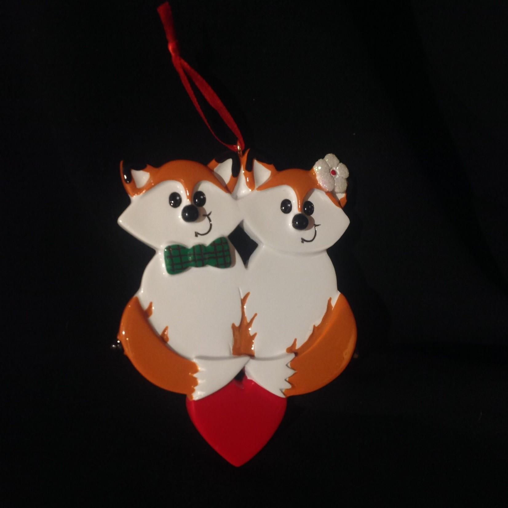 Fox Couple Orn