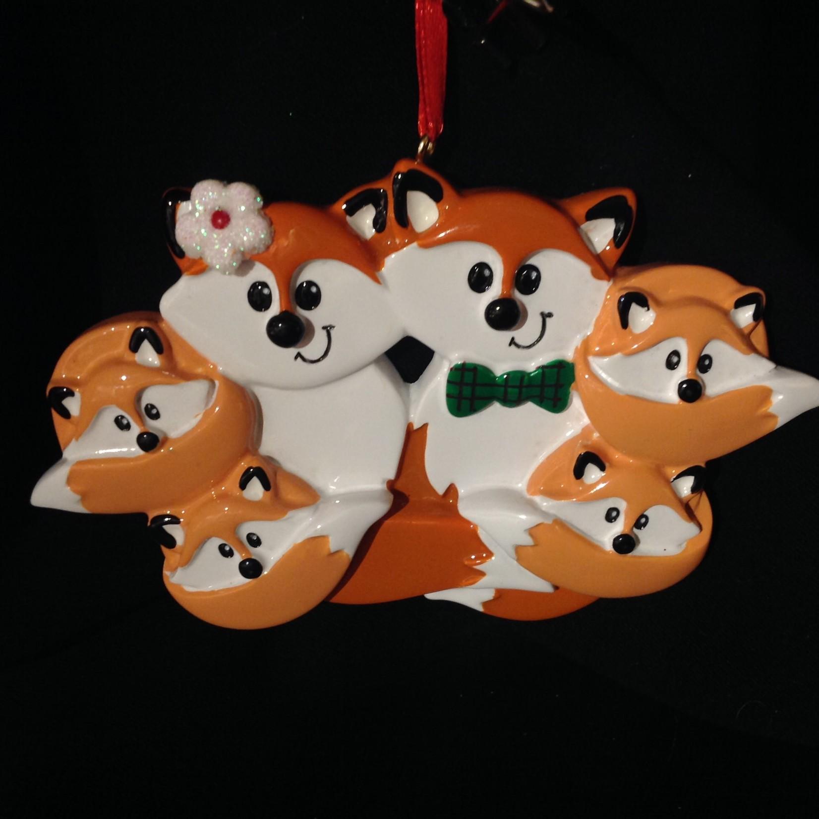 **Fox Family Orn - 6