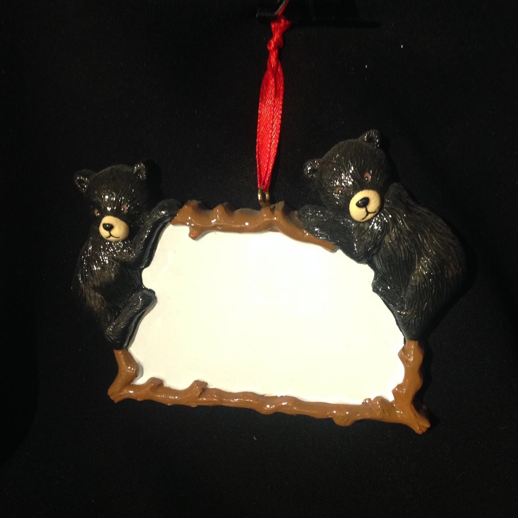 **Bear  Plaque Ornament