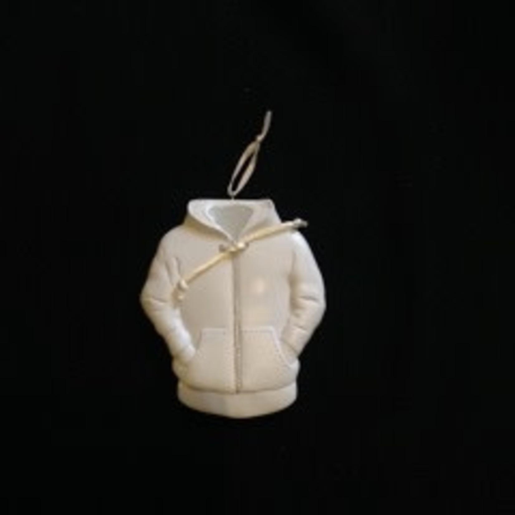 White Hoodie Ornament