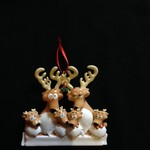 Reindeer Family Orn - 6