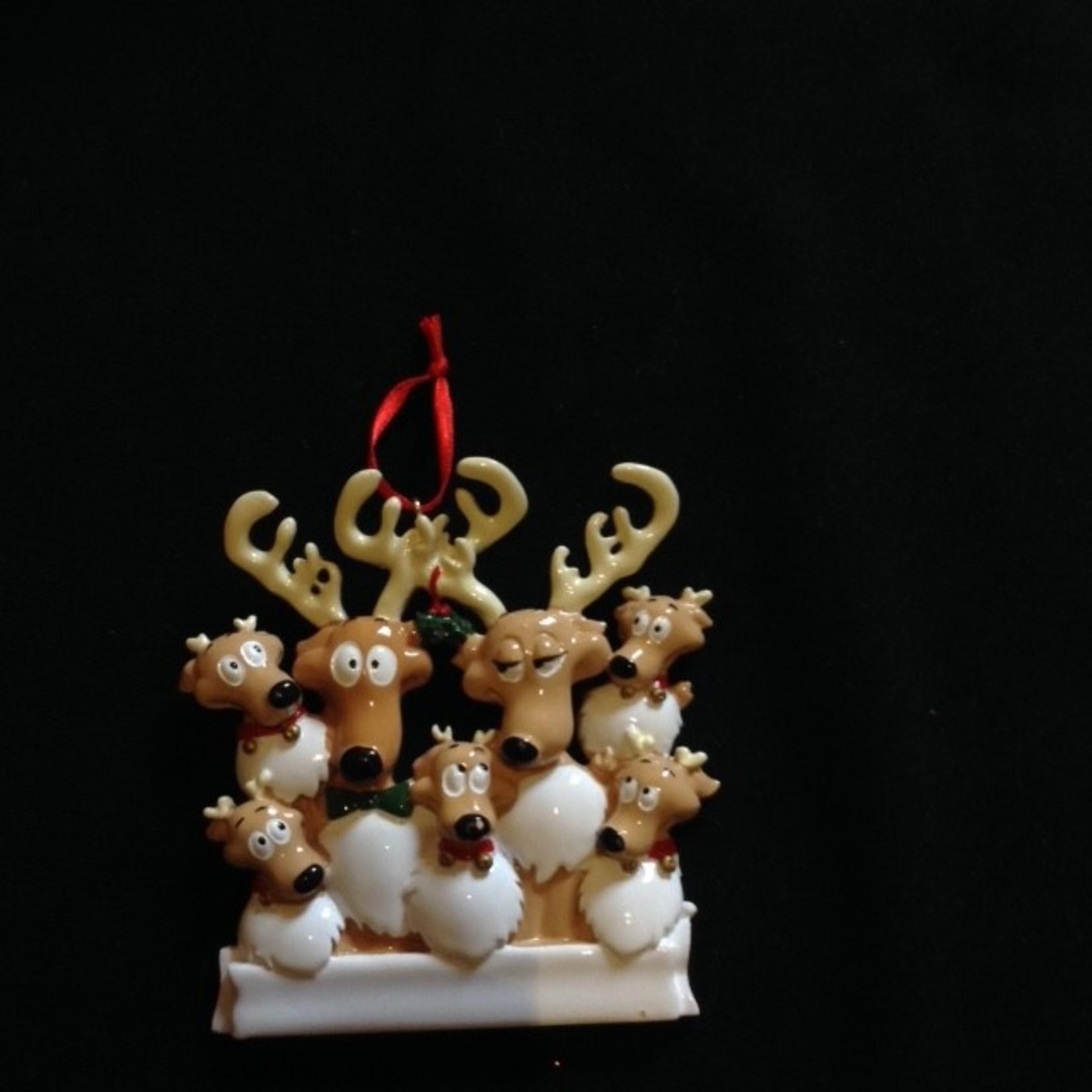 Reindeer Family Orn - 7