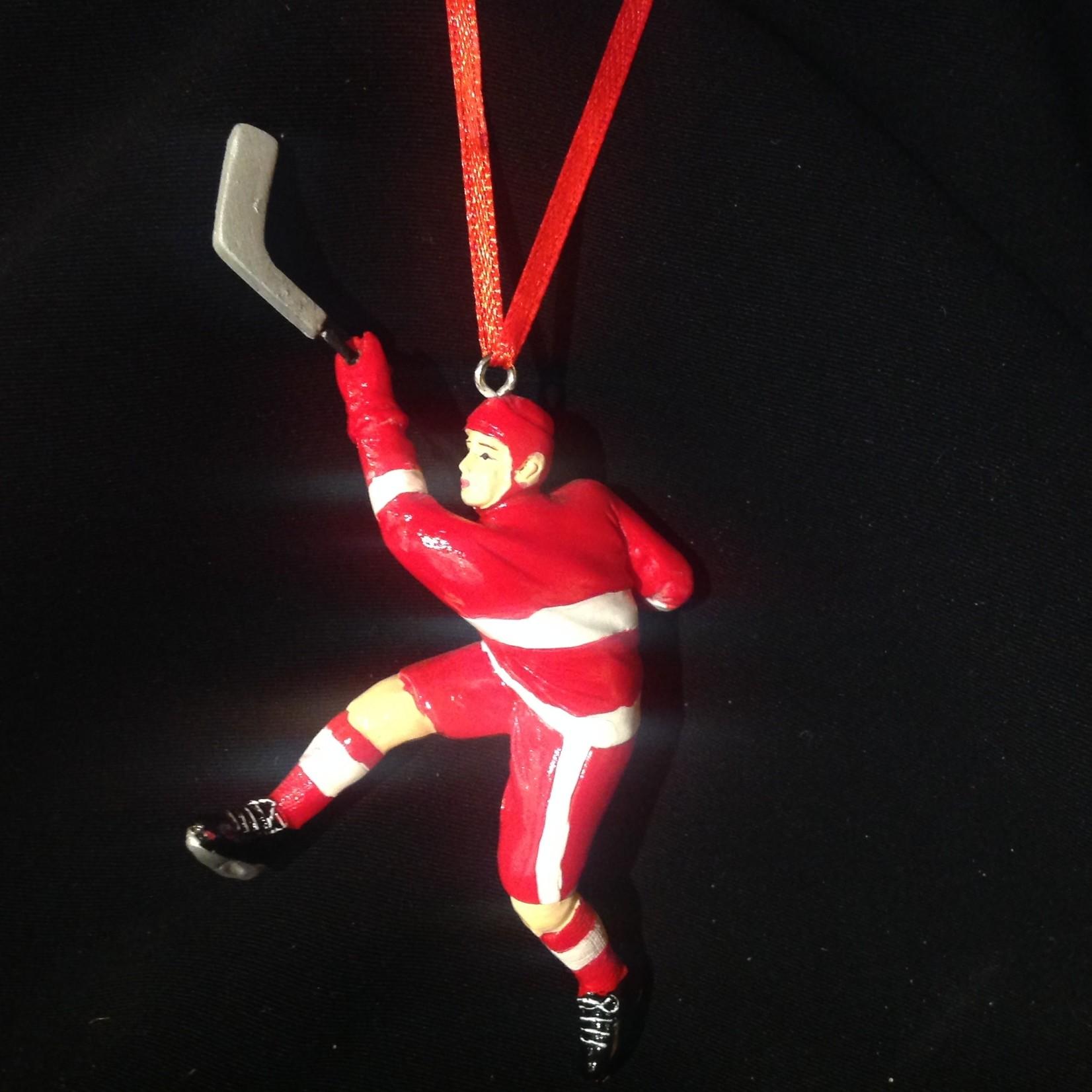 Shooting Hockey Player Orn