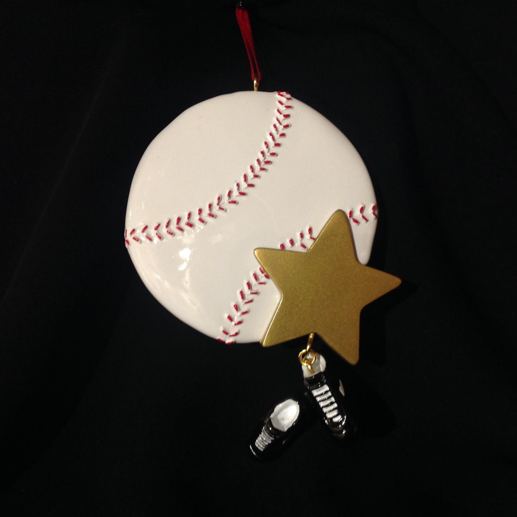 Baseball Star Orn