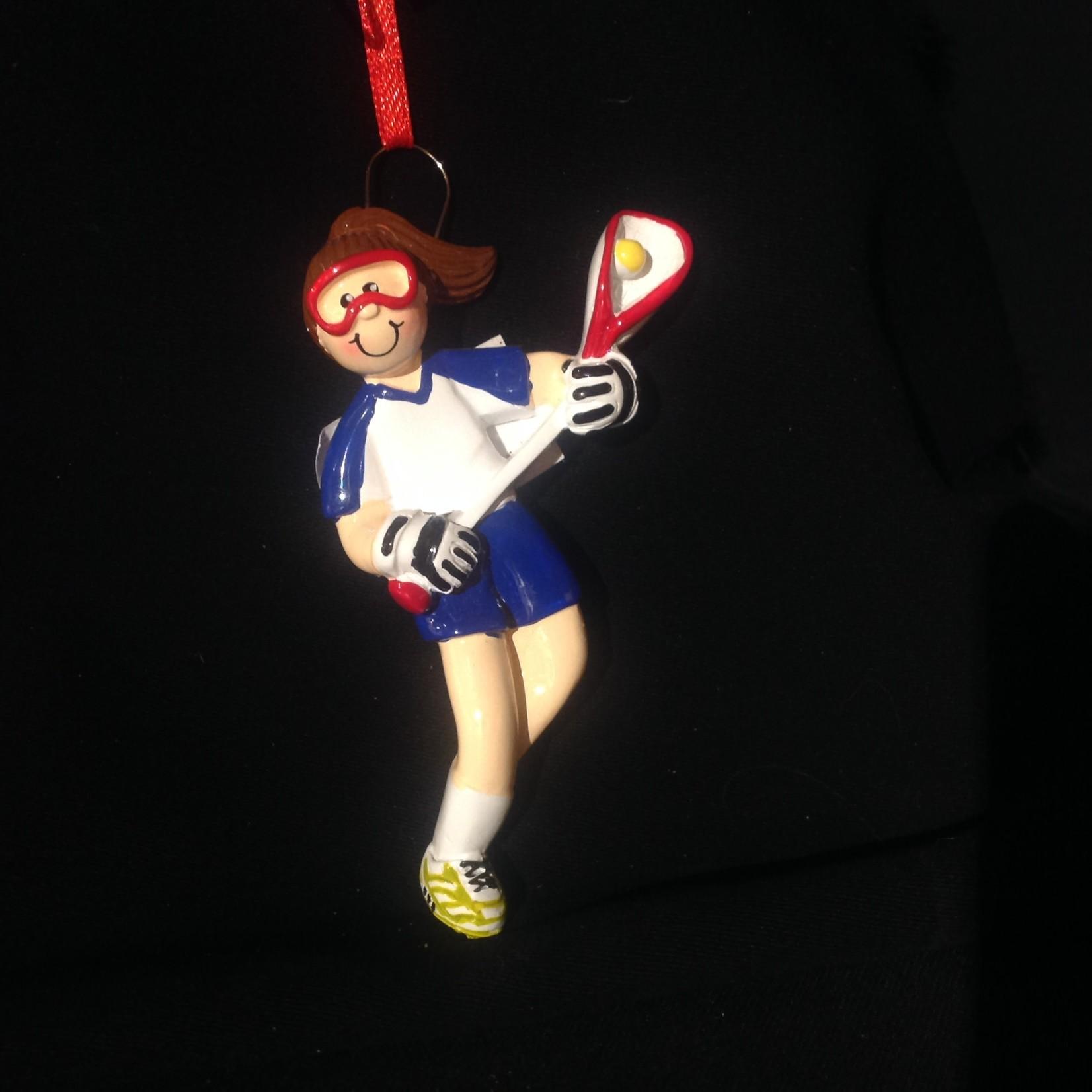 Lacrosse Girl Orn - Brown