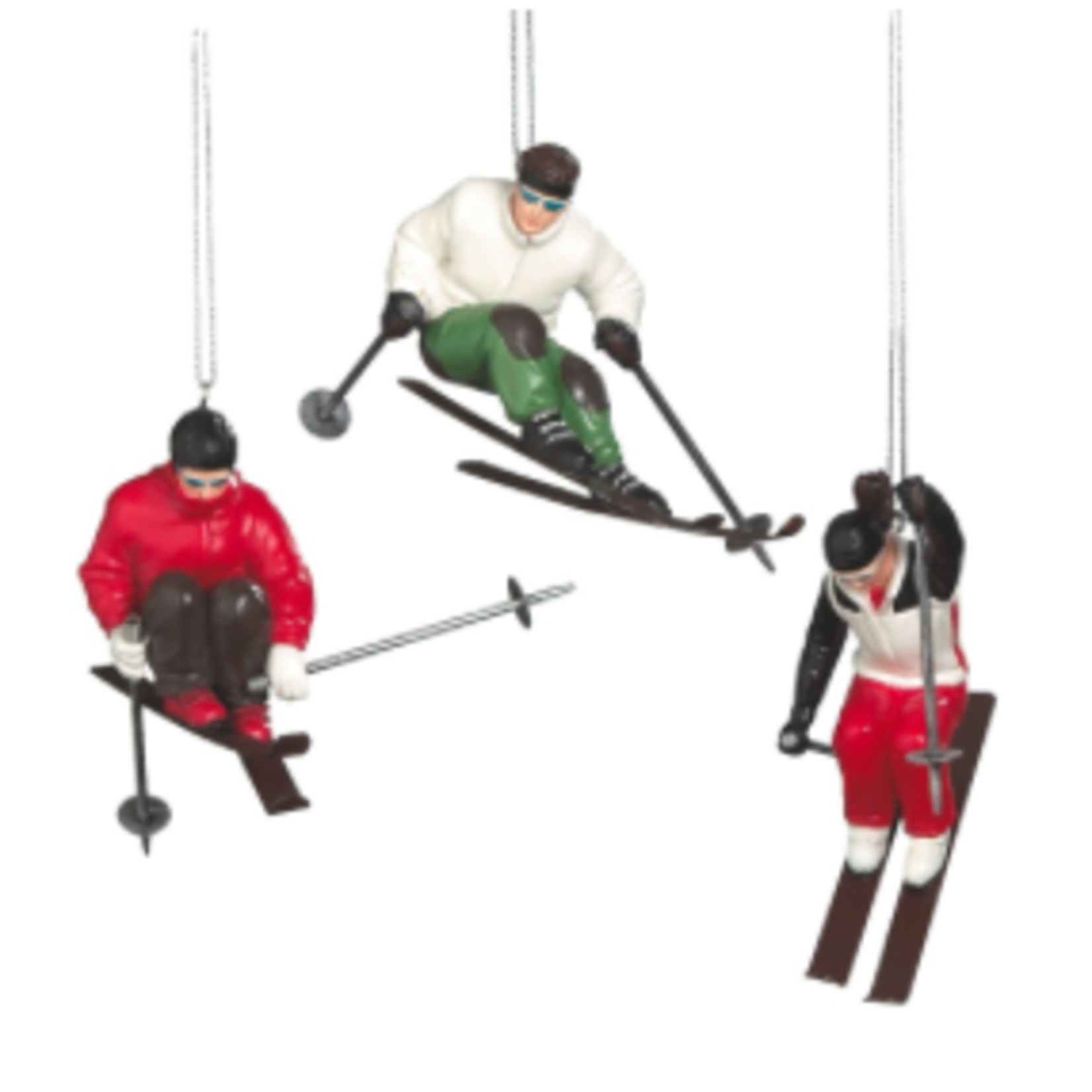 Skier Ornament 3A