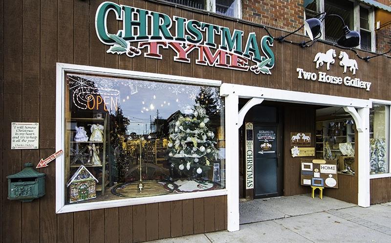 Christmas Tyme store in Huntsville Ontario