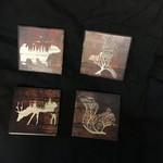 Tree Animal Stoneware Coasters (4 pk)