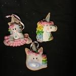 **Pastel Claydough Unicorn Ornament 3A