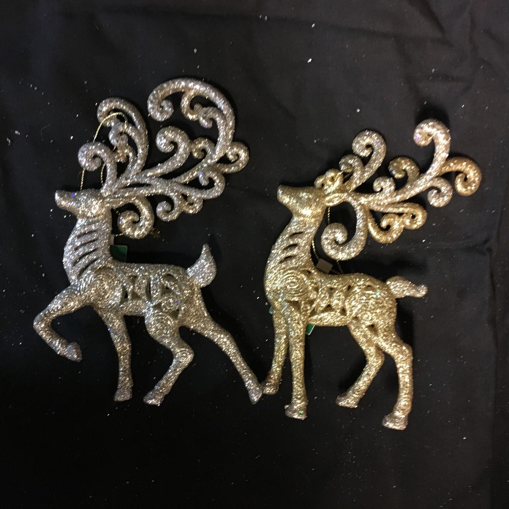 Gold/Plat Reindeer Orn 2A
