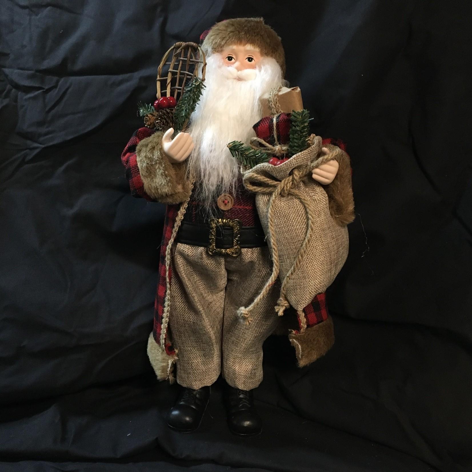 "18"" Red/Black Santa w/Snowshoes"