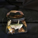 **Wood Fishing Basket Orn