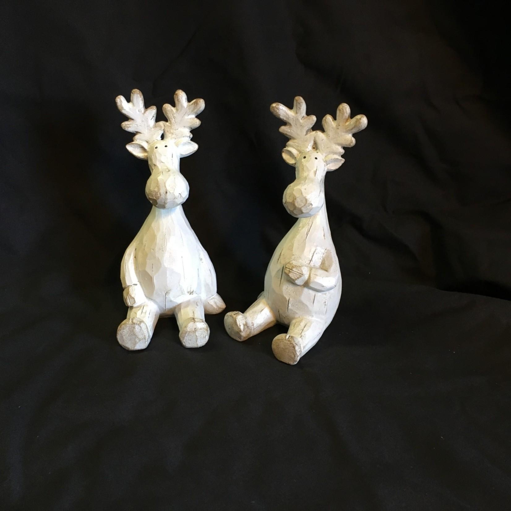 "6.5"" White Sitting Moose 2A"