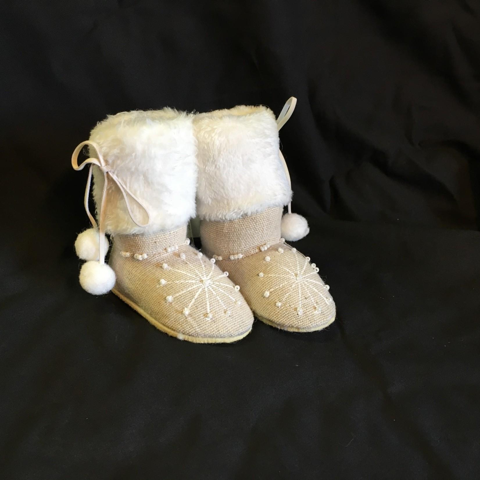 Ivory/White Mukluk Ornament