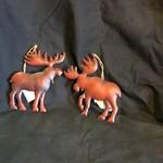 Rustic Red Metal Moose 4A
