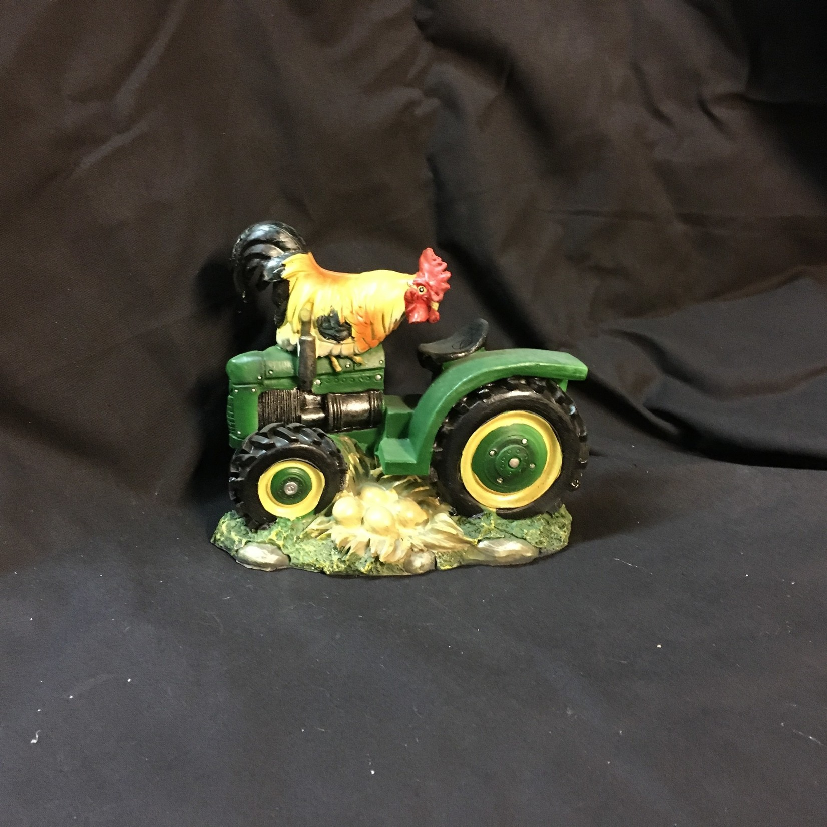 "6"" Rooster on Tractor Figurine"