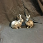 Stone Look Rabbit Figurine 2A