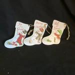 "5.5"" Metal Snowman Stocking Orn 3A"