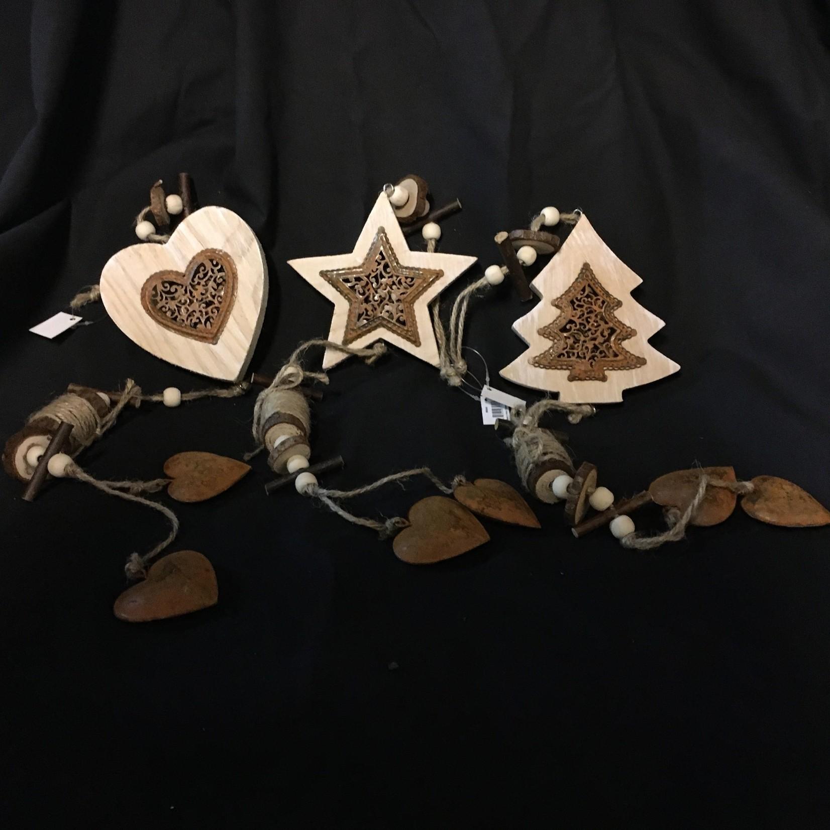 Metal/Wood Heart/Star/Tree 3A