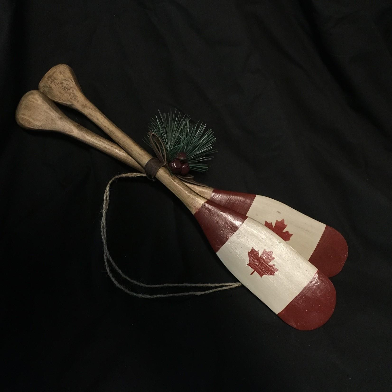 "16"" Crossed Paddles w/Cdn Flag"