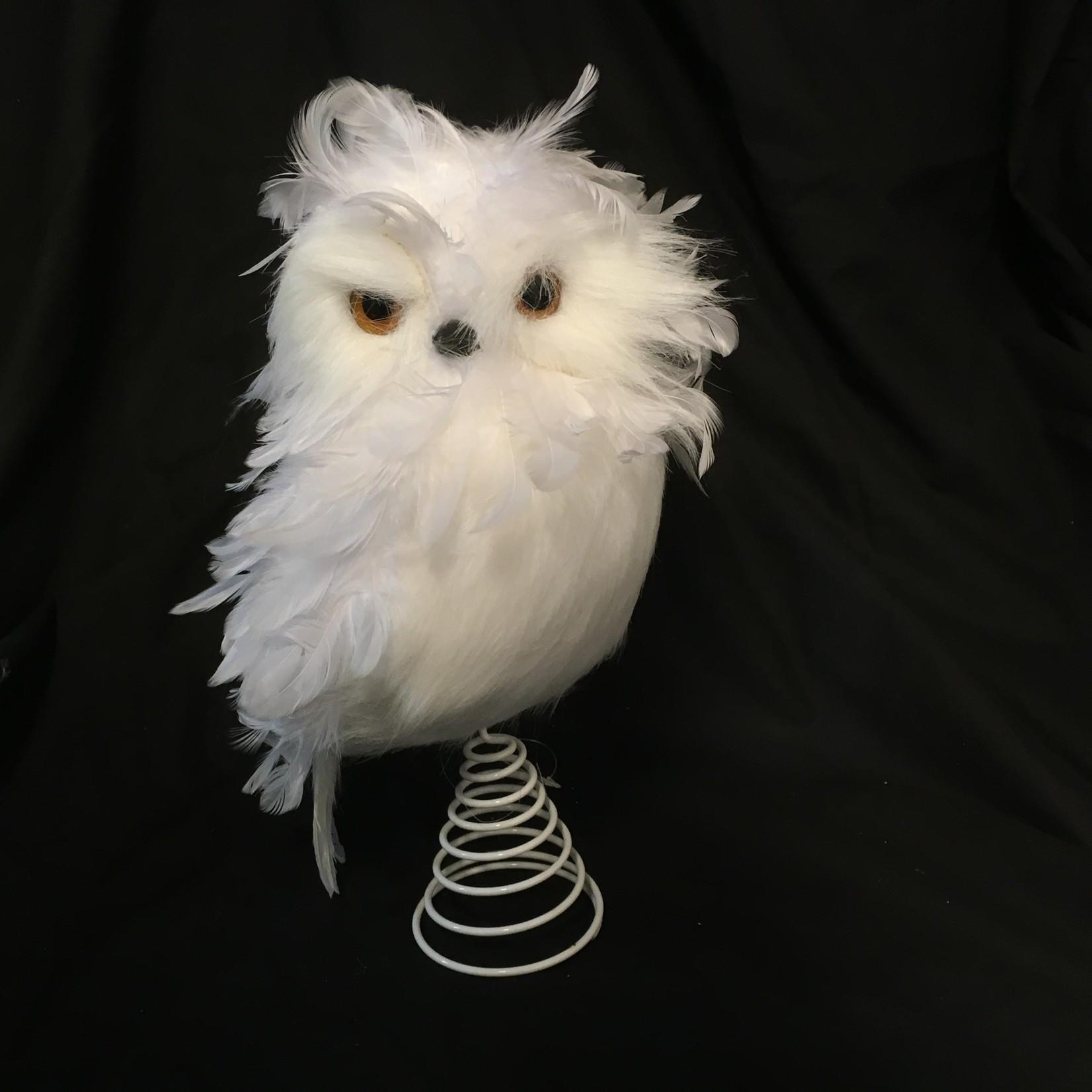 "12.5"" Snowy Owl Tree Topper (no box)"