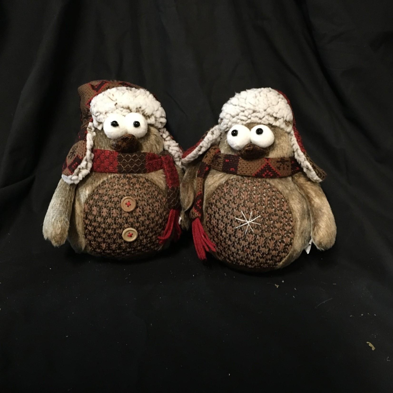 "9"" Brown Owl w/Hat & Scarf 2A"