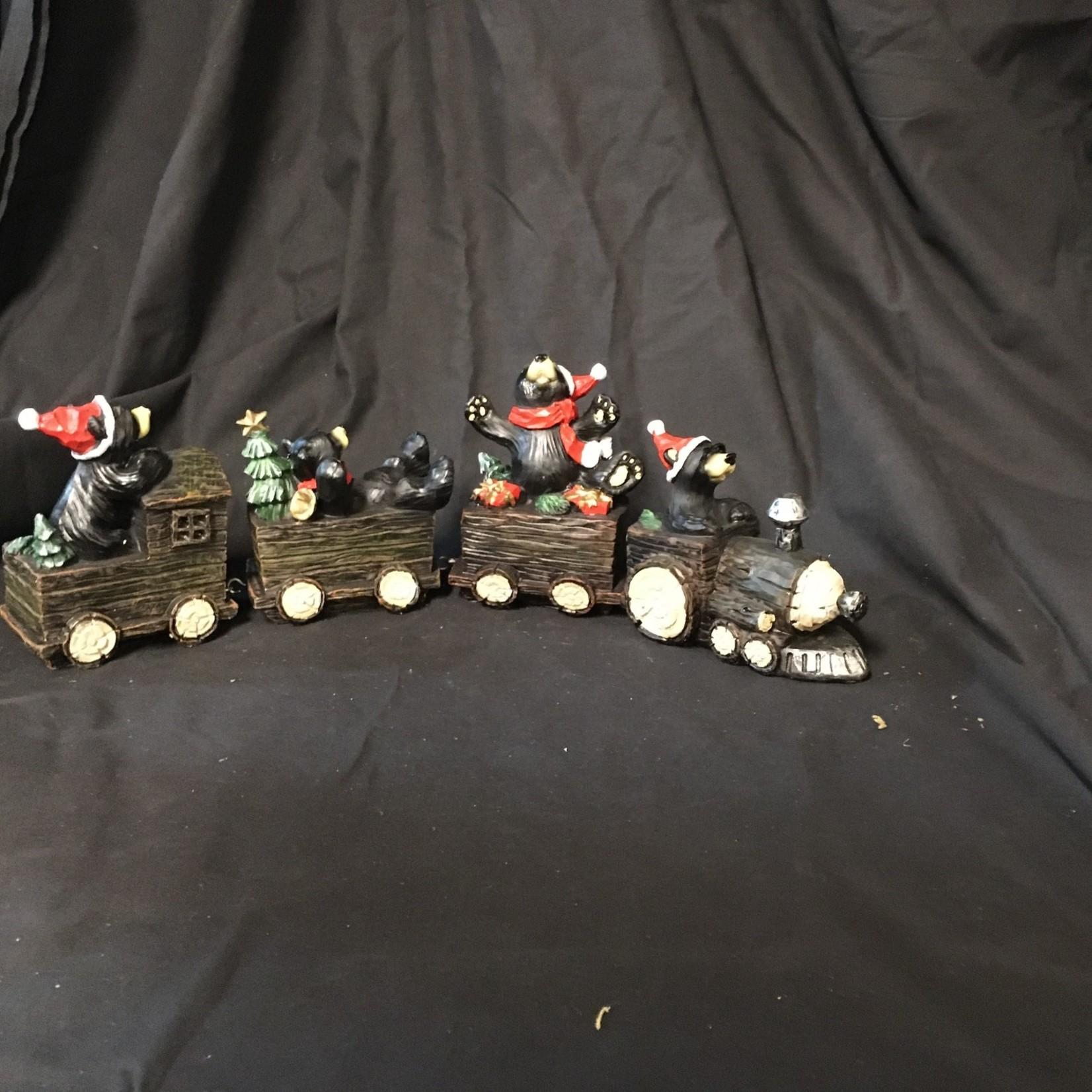 "18x5.5"" 4 Pce Bear Train"