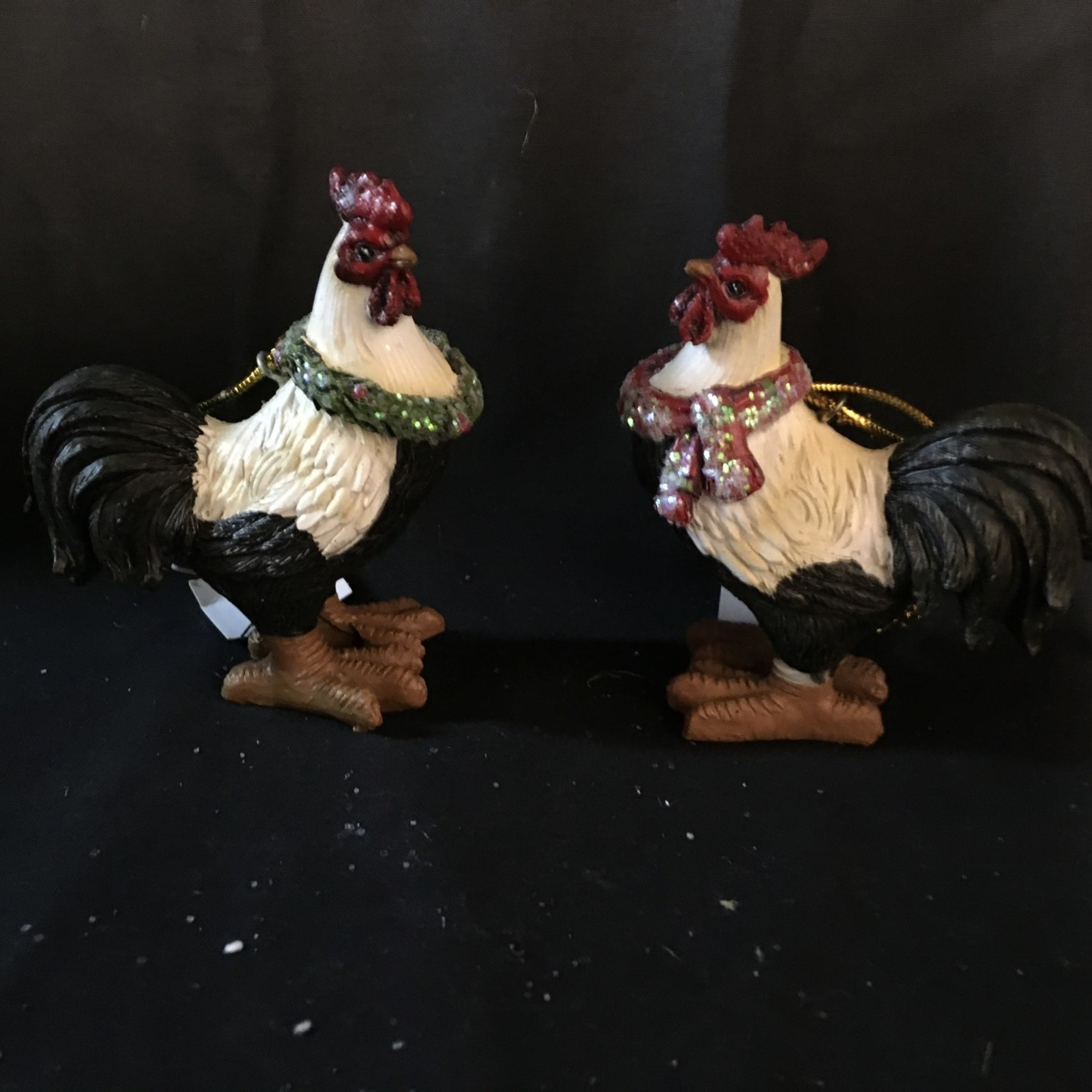 Christmas Rooster Ornament 2A
