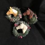 Horse Head in Wreath Orn 3A