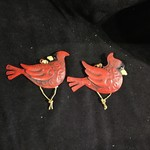 Metal Cardinal Orn 4A