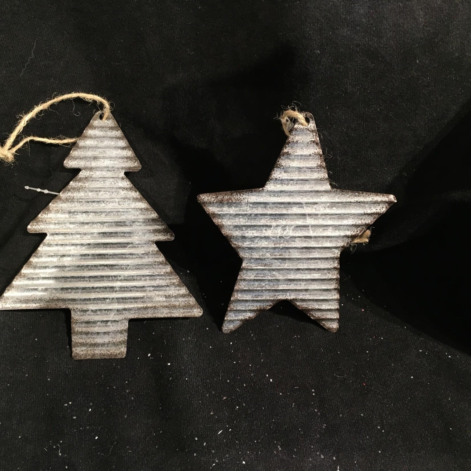 Galvanized Star/Tree 2A
